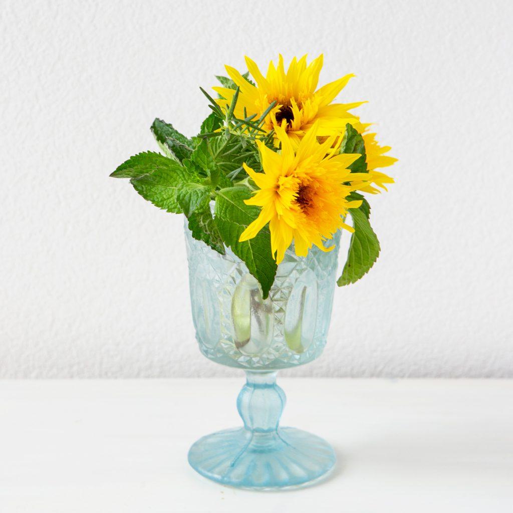 ハーブと花