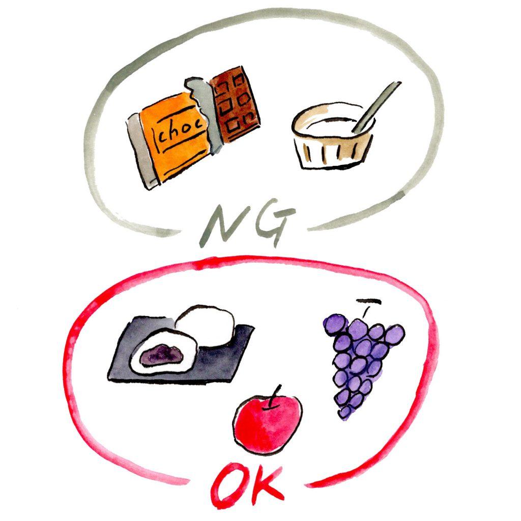 チョコレートより和菓子