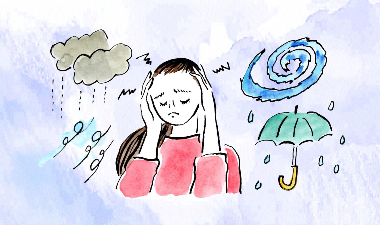 天気圧による頭痛
