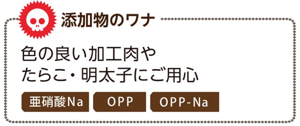 添加物のワナ 色の良い加工肉やたらこ・明太子